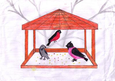 Кормушка для птиц детям